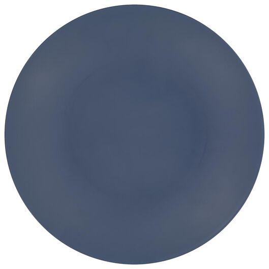 petite assiette Ø 21.5 mélamine bleu mat - 80660045 - HEMA