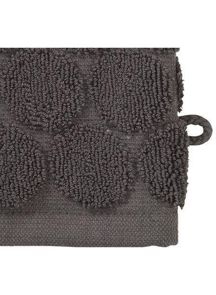 gant de toilette - qualité épaisse - gris foncé pois - 5200064 - HEMA