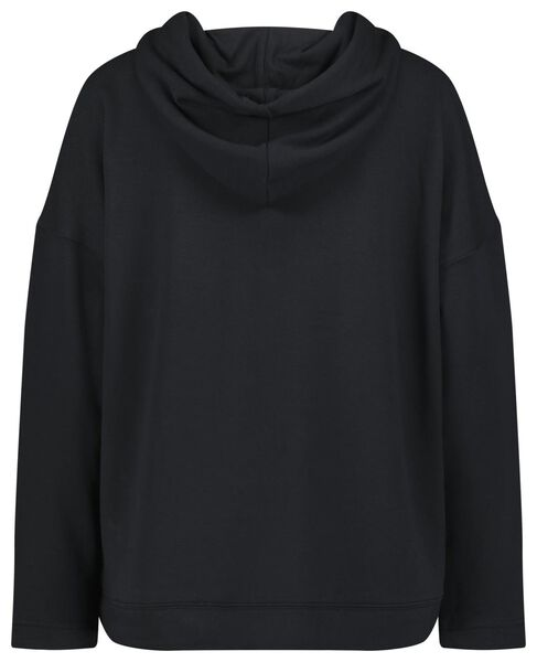women's hooded sweater black black - 1000022476 - hema