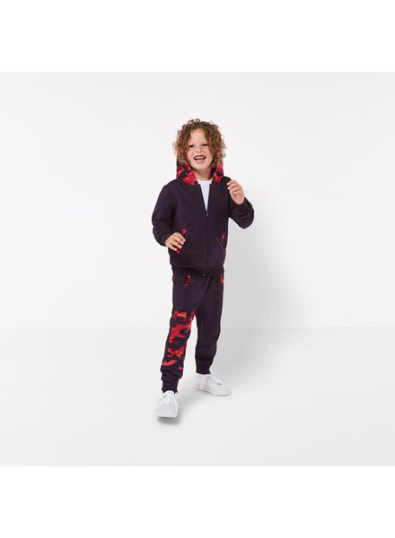 pantalon sweat enfant - Bananas&Bananas rouge rouge - 1000016529 - HEMA
