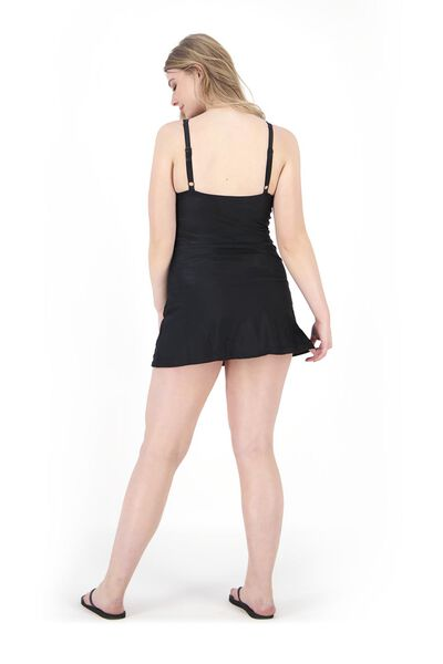 robe de bain femme contrôle moyen recyclé noir noir - 1000017899 - HEMA