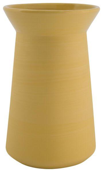vaas Ø13.6x22.5 aardewerk geel - 13311065 - HEMA