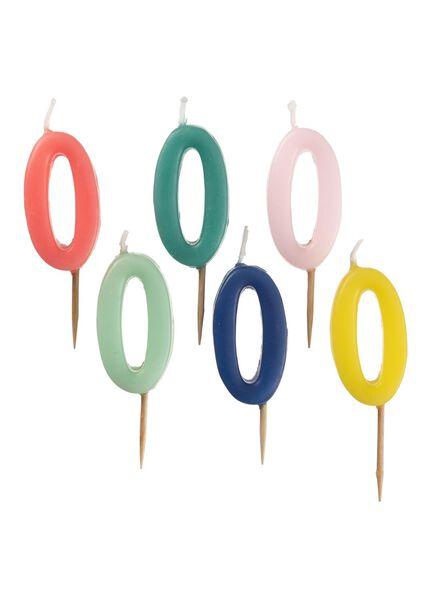 bougie chiffre multicolore multicolore - 1000017788 - HEMA