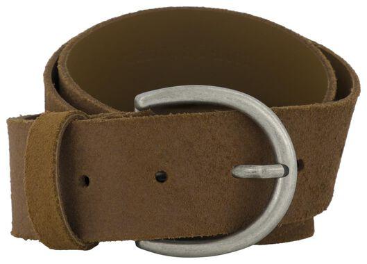 Damen-Ledergürtel, 4 cm braun braun - 1000023441 - HEMA