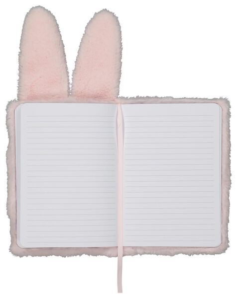 carnet A5 fluffy lapin rose - 14195501 - HEMA