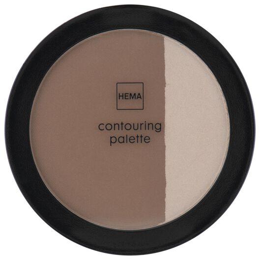 contouring palette 01 pink almond & coffee - 11290191 - hema