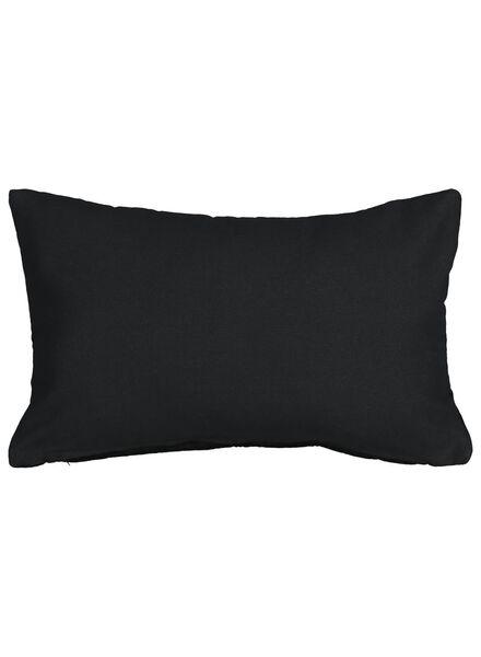 cushion cover - 50x30 - velvet - black - 7392014 - hema