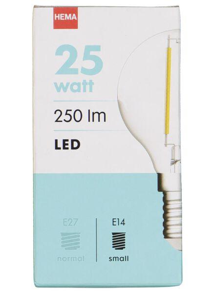 LED-Kugellampe, 25 W, 250 lm, klar - 20020028 - HEMA
