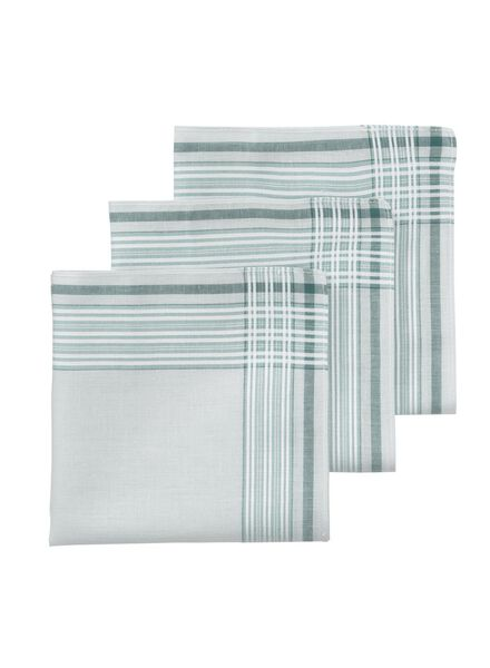 lot de 3 mouchoirs 30 x 30 cm - 1400016 - HEMA