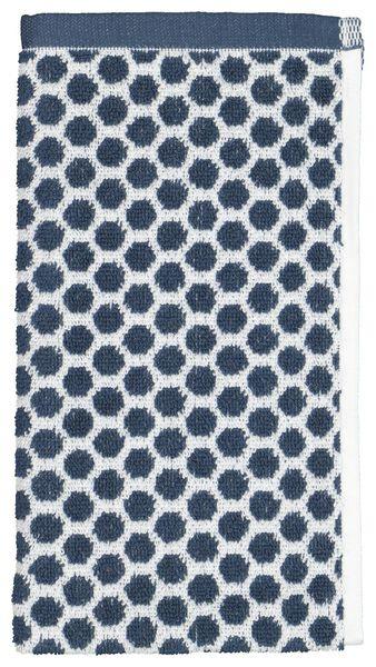 petite serviette - 30 x 55 cm - qualité épaisse - pois - bleu jean denim petite serviette - 5210087 - HEMA