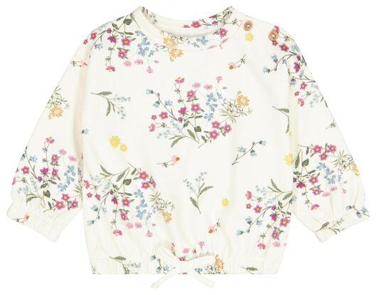Babyoberteile - HEMA Baby Sweatshirt, Blumen Eierschalenfarben - Onlineshop HEMA