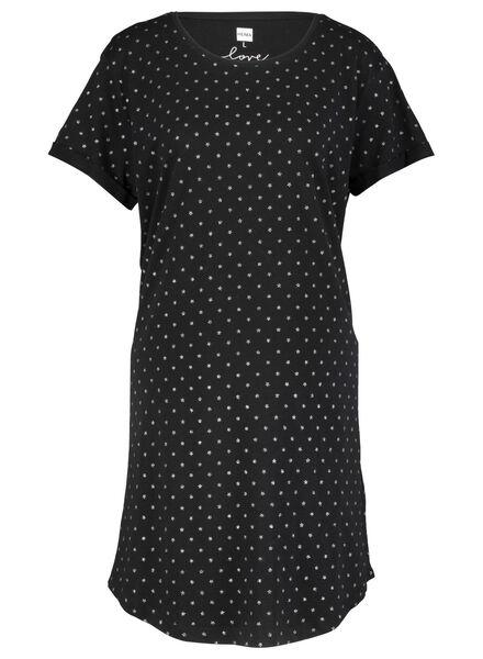 Damen-Nachthemd schwarz schwarz - 1000015501 - HEMA
