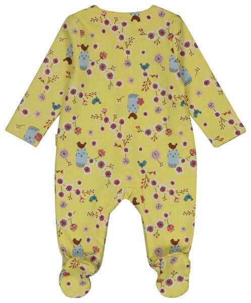 newborn sweatshirt fabric jumpsuit yellow yellow - 1000018725 - hema