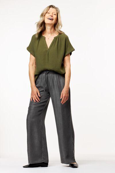 Damen-T-Shirt hellgrün - 1000024503 - HEMA