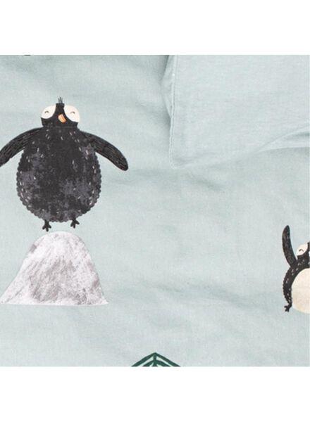 housse de couette enfant - 140 x 200 - flanelle - pingouins - 5710143 - HEMA