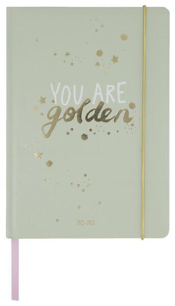 Schülerkalender, 2021-2022, golden, 21 x 14 cm - 14500547 - HEMA