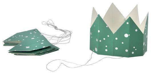 6 green paper crowns - 14200538 - hema
