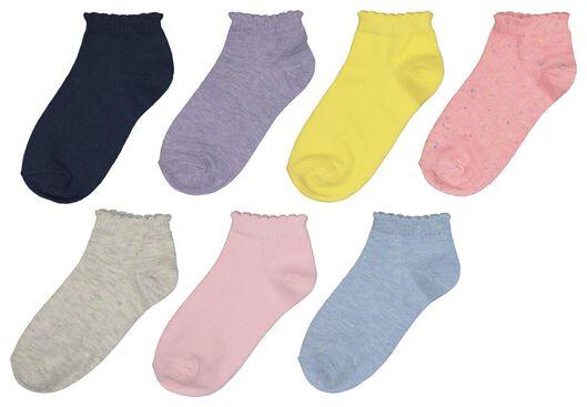 7-pack children's ankle socks multi multi - 1000017875 - hema