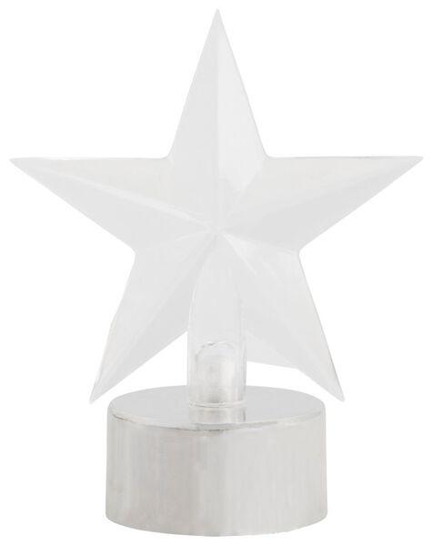 étoile LED sur pied de 9 cm qui change de couleur - 25590041 - HEMA
