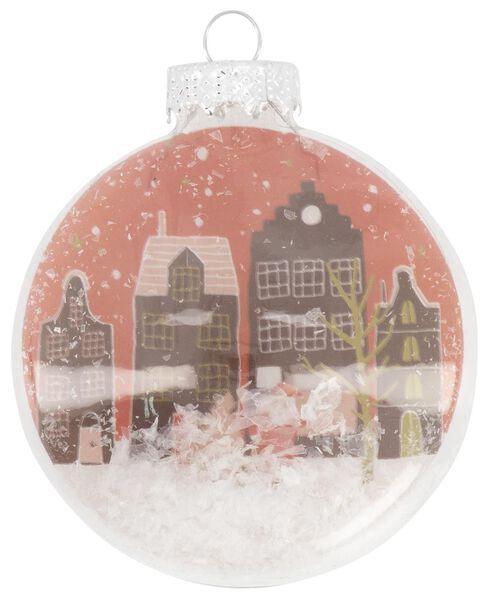 décoration de Noël en verre - neige 4x7x7 - 25104849 - HEMA