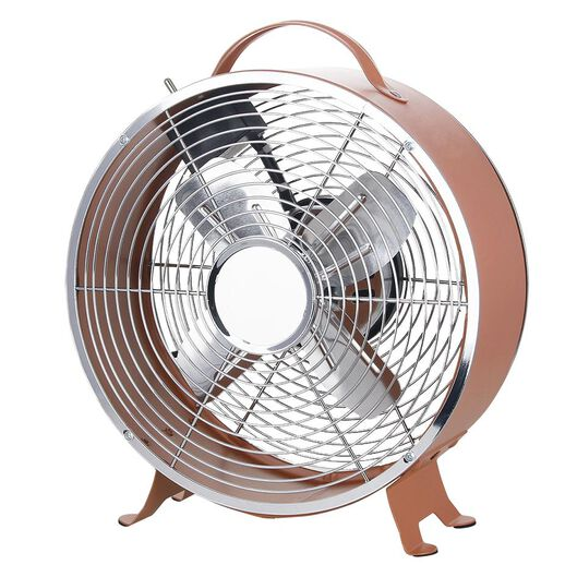 ventilateur de table rétro Ø25.8cm terracotta mat - 80060006 - HEMA
