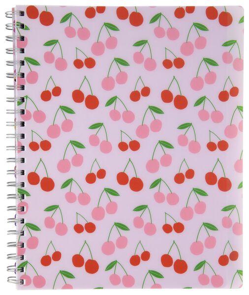 cahier à spirale 4-en-1 A4 à grands carreaux (Seyès) - 14590273 - HEMA