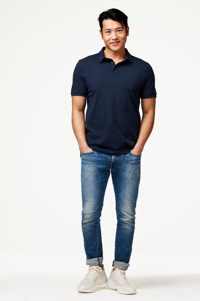 Herren-Poloshirt, Jersey dunkelblau dunkelblau - 1000023568 - HEMA