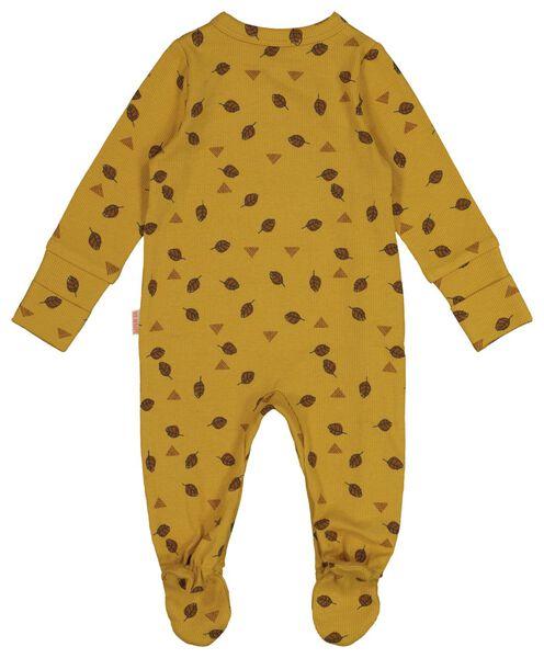 newborn jumpsuit with bamboo yellow yellow - 1000017637 - hema