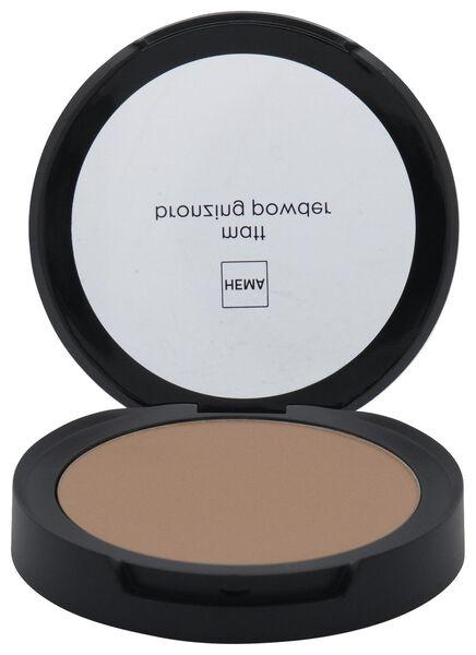poudre bronzante matifiante 02 almond - 11290182 - HEMA