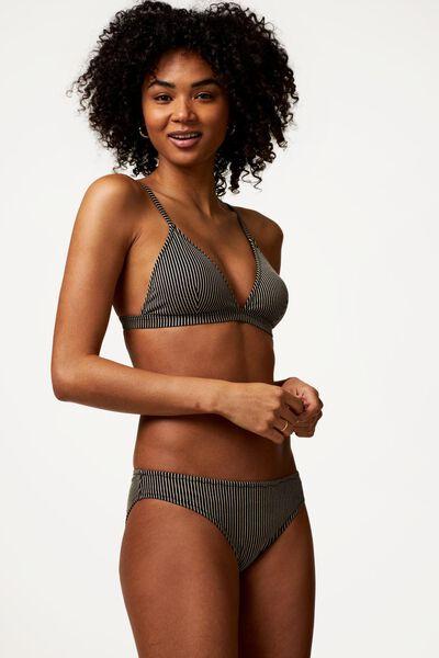 Bademode - HEMA Damen Bikinislip, Glitter Schwarz  - Onlineshop HEMA