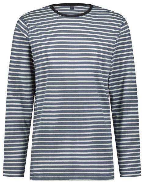 Herren-Pyjama, Streifen dunkelblau dunkelblau - 1000023456 - HEMA