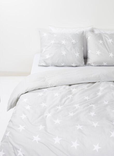duvet cover - cotton - 140 x 200 cm - grey stars light grey 140 x 200 - 5700087 - hema