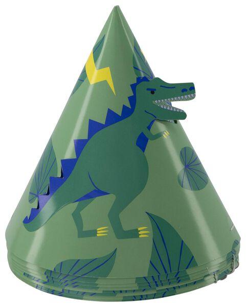 8 paper party hats Ø12cm dinosaur - 14200420 - hema