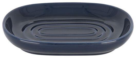 soap dish - 13x9cm - ceramic - dark blue - 80310014 - hema