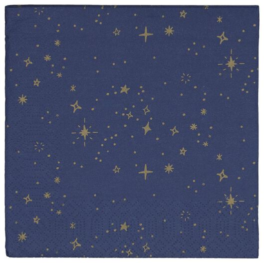 20 star paper serviettes size 33x33 - 25280032 - hema