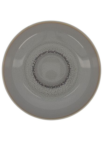 deep plate 21 cm - helsinki - reactive glaze - light grey - 9602015 - hema