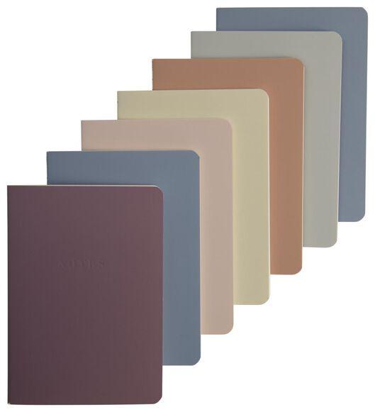 7 exercise books A6 rainbow - 14120066 - hema