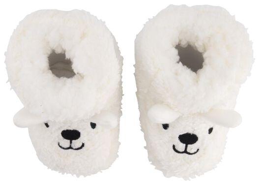babyslofjes teddy wit wit - 1000020516 - HEMA