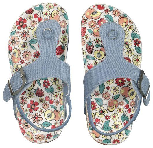 Kinder-Zehensandalen jeansfarben jeansfarben - 1000018092 - HEMA