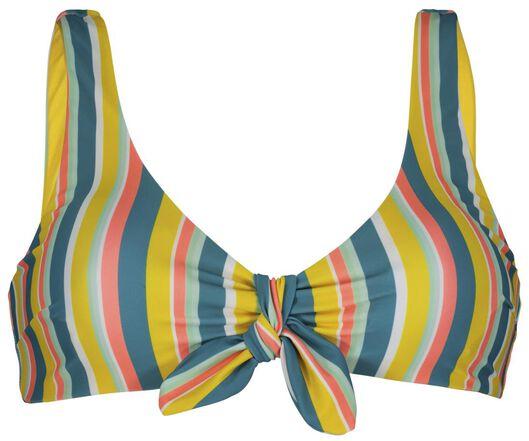 Bademode - HEMA Damen Bikinioberteil, Ohne Bügel, Streifen Multi  - Onlineshop HEMA