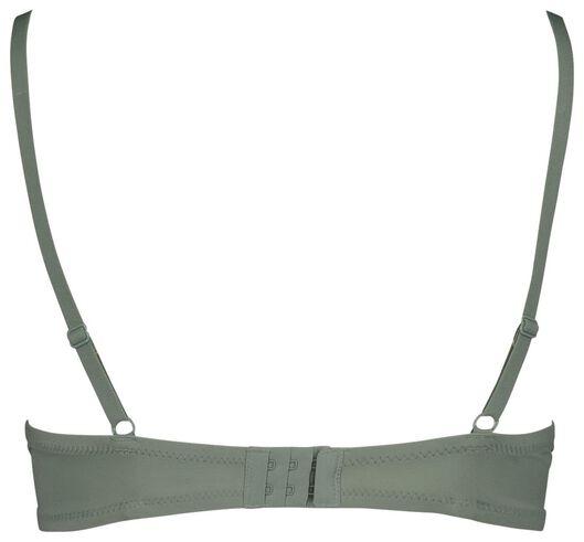 soutien-gorge t-shirt paddé en micro extra doux vert vert - 1000018705 - HEMA