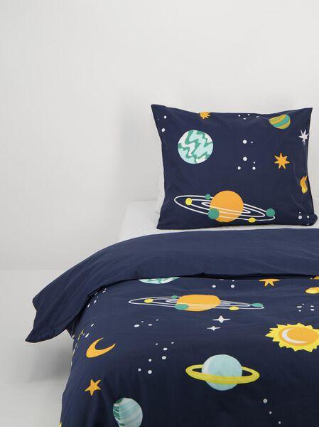 Kinder-Bettwäsche – Soft Cotton – 140 x 200 cm – dunkelblau mit Planetenmuster - 5740077 - HEMA