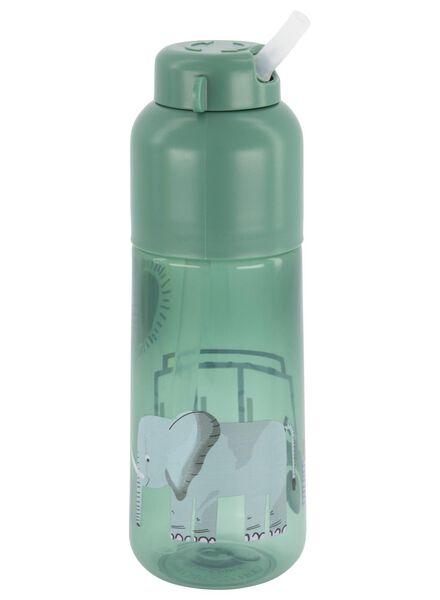 Wasserflasche mit Trinkhalm, 300 ml, Safari - 80610099 - HEMA