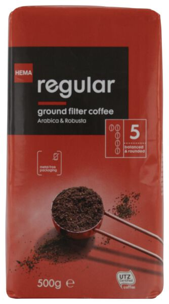 filter coffee regular - 500 grams - 17170001 - hema
