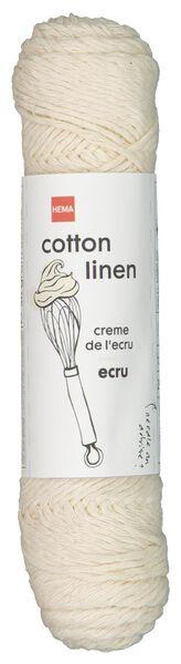 fil mélange coton et lin 83m écru écru cotton linen - 1400198 - HEMA