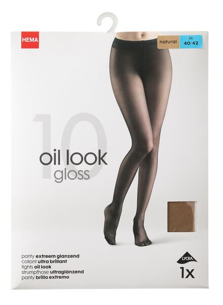 extremely shiny tights 10 denier natural natural - 1000006410 - hema