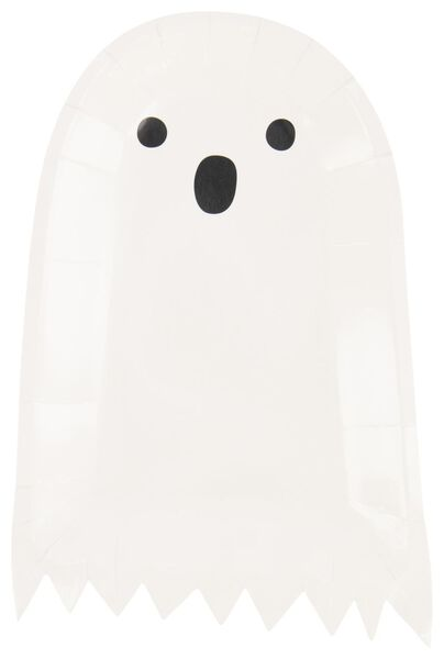 10 assiettes en papier ⌀23 cm - fantôme - 25200537 - HEMA