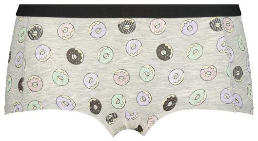 boxer adolescent coton gris chiné gris chiné - 1000020271 - HEMA