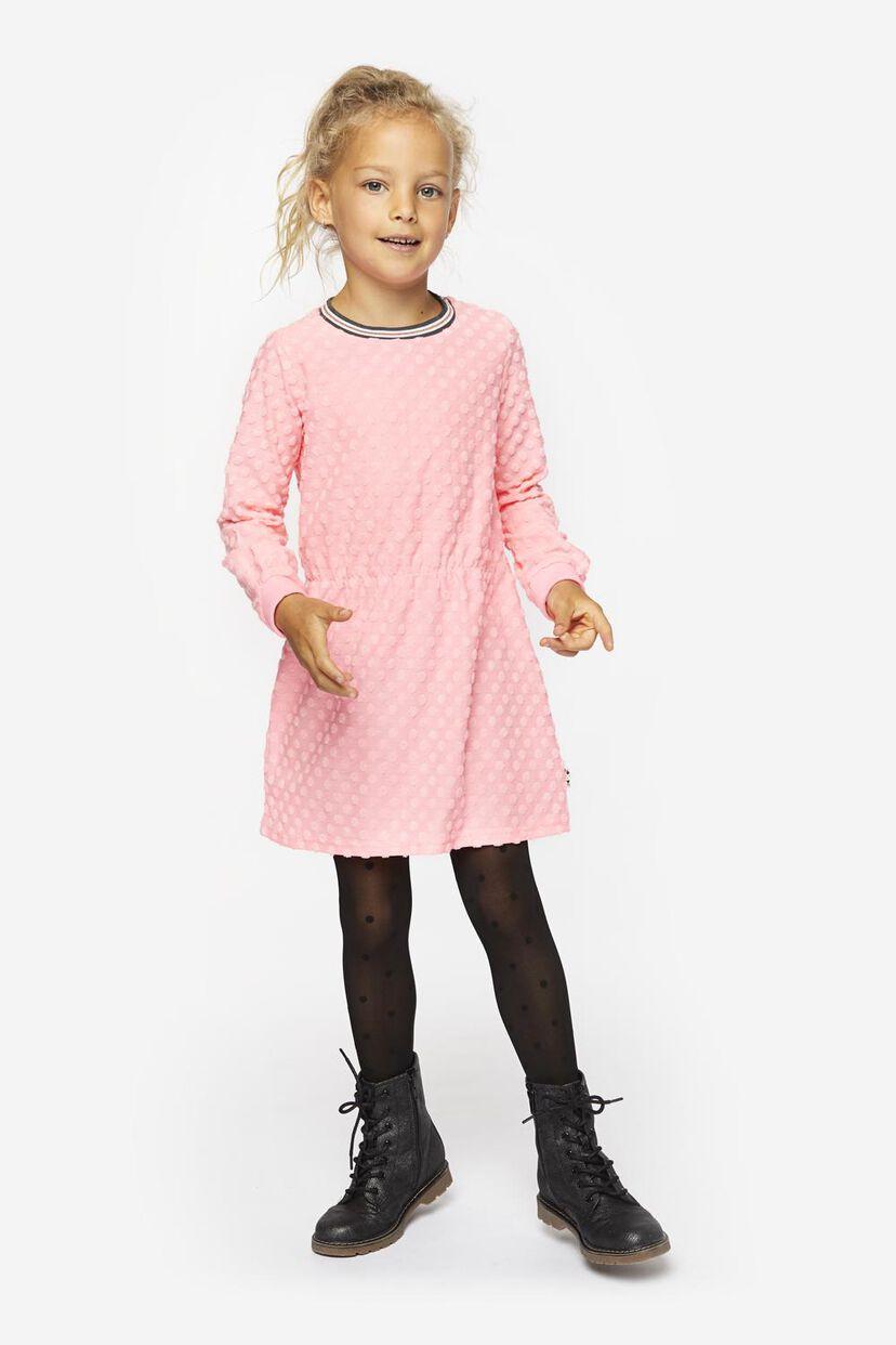 Kinder-Sweatkleid, Punkte neonrosa - HEMA
