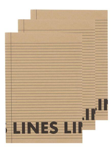 3 cahiers A4 lignés - 14170058 - HEMA